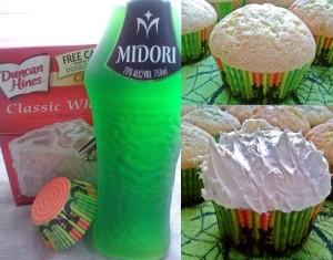 midori cupcake