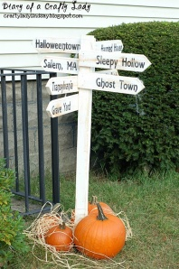 Halloween sign from Pinterest
