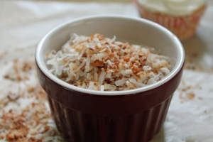 Easy yummy toasted coconut