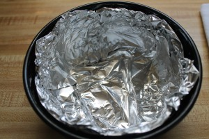 Line bowl with foil